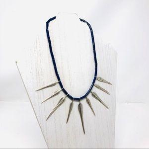 🆕 sterling, lapis lazuli necklace, 33.6g